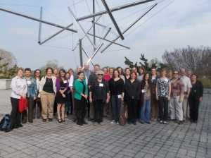 "Participants, instructors, and organizers in the first offering of ""A Librarian's Guide to NCBI"" outside the National Library of Medicine."