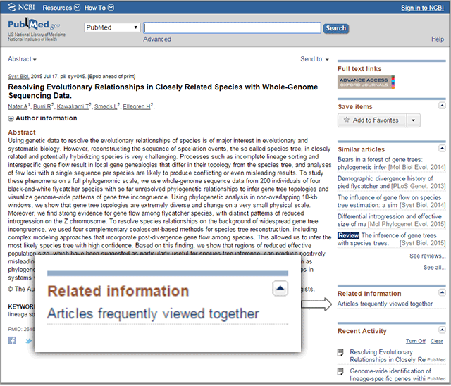655e061948f9 NCBI Insights   PubMed Also-Viewed  Quickly find related articles