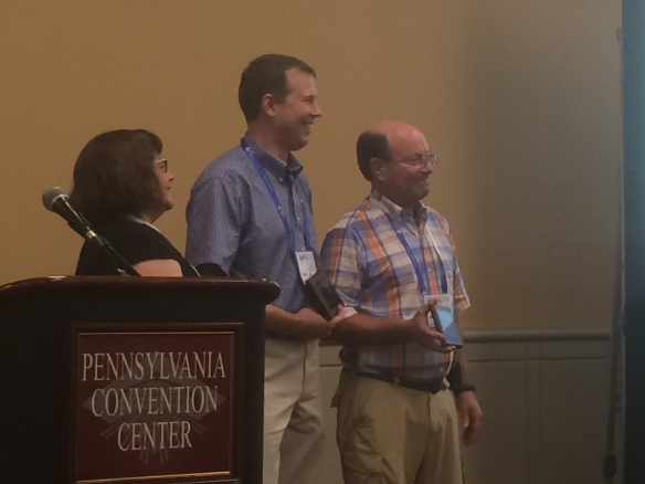 Figure 1. Drs. Bryant and Bolton receive the American Chemical Society 2016 Herman Skolnik Award.