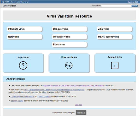 Virus Variation Homepage