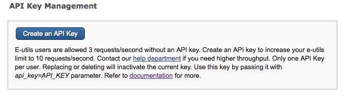 NCBI Insights : New API Keys for the E-utilities