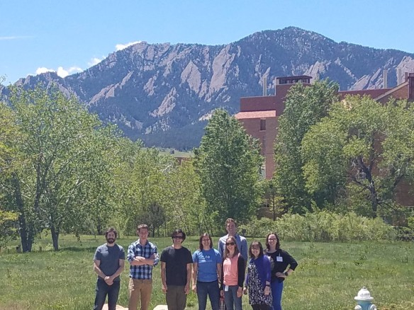 Colorado hackathon participants pose outside